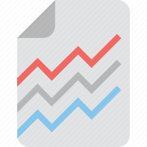 business report, graphic, line chart, report, statistics icon