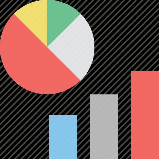 analytics, bar graph, infographic, pie chart, statistics icon