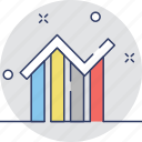 analytics, bar graph, infographic, line chart, statistics icon