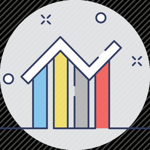 analytics, bar graph, infographic, line chart, statistics icon