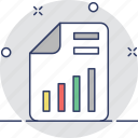 bar chart, business report, graphic, report, statistics icon