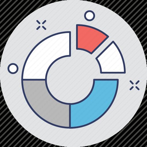analytics, diagram, graphic, pie chart, pie graph icon
