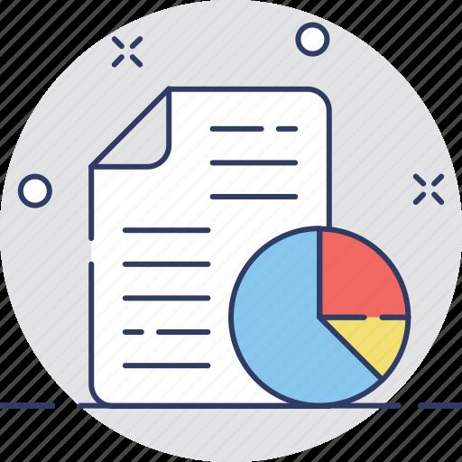 analysis, graph report, pie chart, report, statistics icon