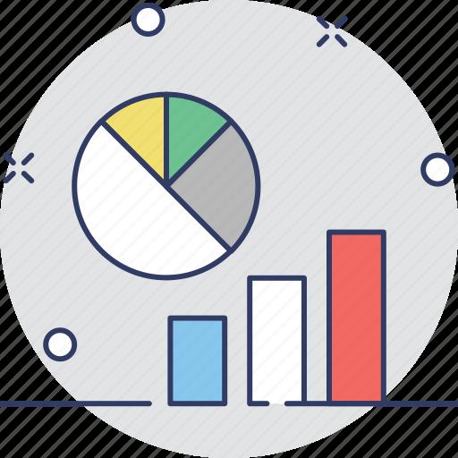 analytics, bar chart, diagram, pie graph, statistics icon