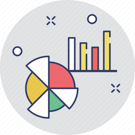 analytics, bar graph, infographic, pie chart, statistics icon