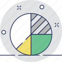 analytics, diagram, graphic, pie chart, pie graph icon