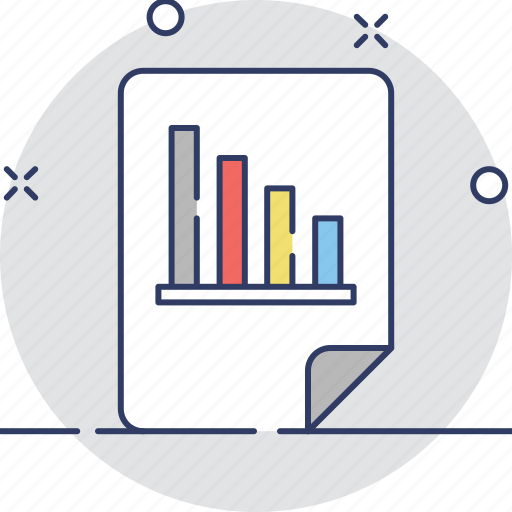 analysis, bar chart, graph report, report, statistics icon