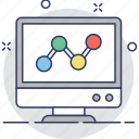 diagram, graph, infographic, screen, web analytics icon
