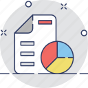 bar chart, graph report, pie chart, report, statistics icon