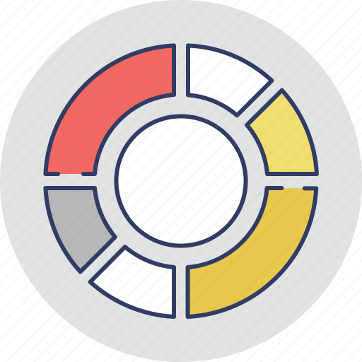 chart, circle chart, diagram, donut chart, graphic icon