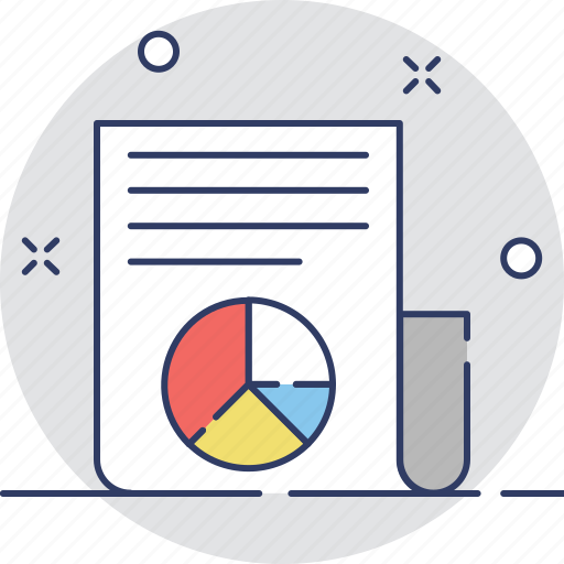diagram, graph report, pie chart, report, statistics icon