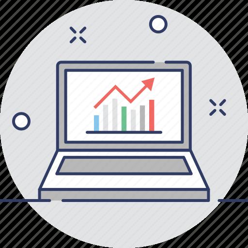 diagram, graph, infographic, screen, web analytics icon