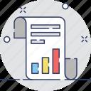 analysis, bar chart, graph report, report, statistics icon