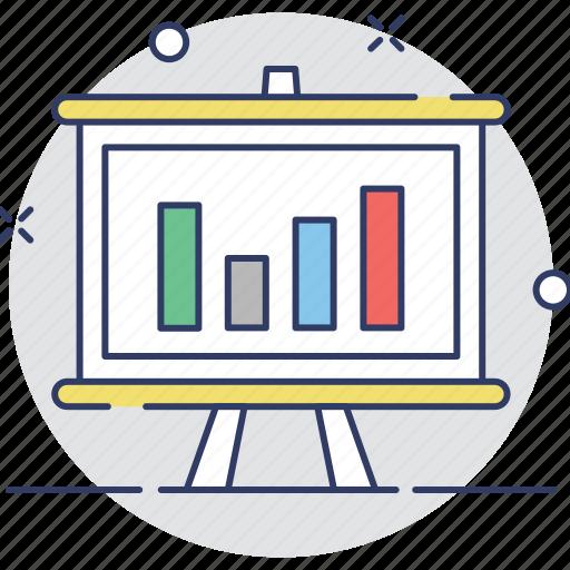 analytics, chart, graph, presentation, training icon