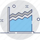 analysis, business graph, forecasting, growth, trending icon