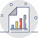 analysis, bar chart, document, graph report, report icon