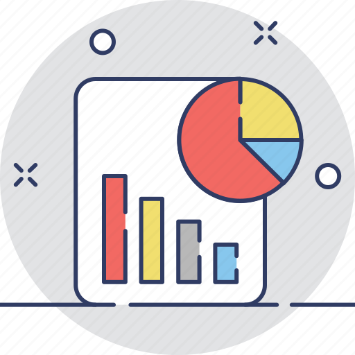 analysis, graphic report, pie chart, report, statistics icon