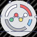 diagram, graph, line chart, pie chart icon