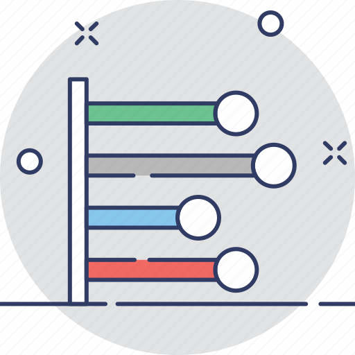 chart, data, graphic, horizontal graph, stats icon