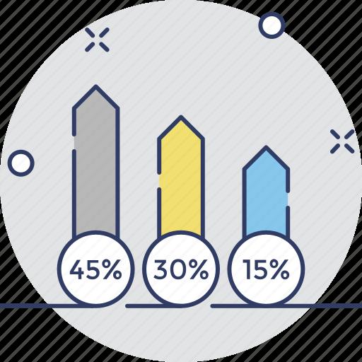 analysis, bar chart, forecasting, graph, stats icon