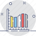 analytics, bar chart, bar graph, bars, statistics icon