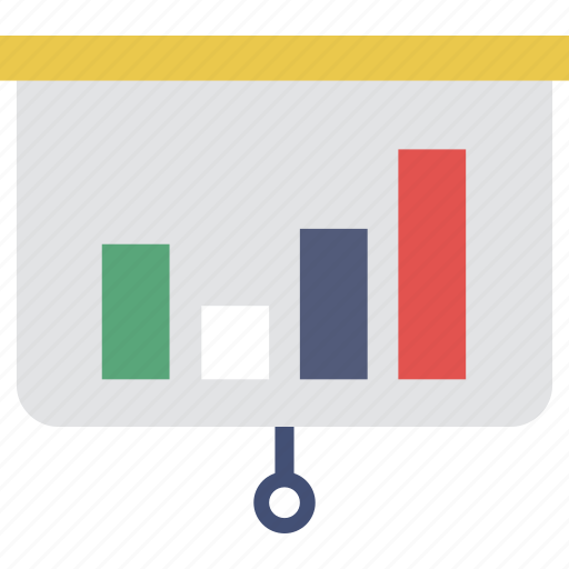 analytics, chart, graph, presentation, training icon
