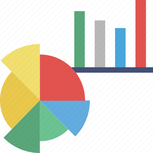 analytics, bar chart, diagram, pie graph, statistics icon