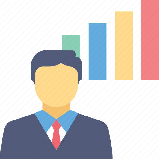 analyst, business, chart, graph, presentation icon