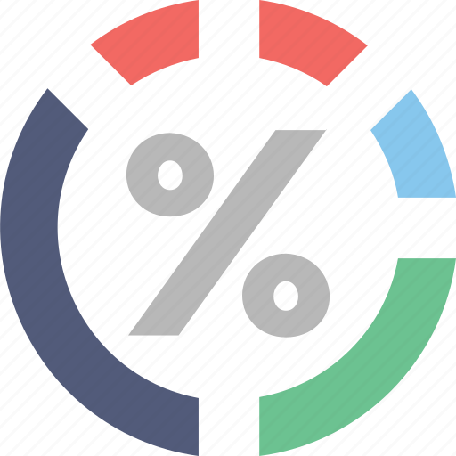 business graph, chart, dashboard, percentage, pie chart icon