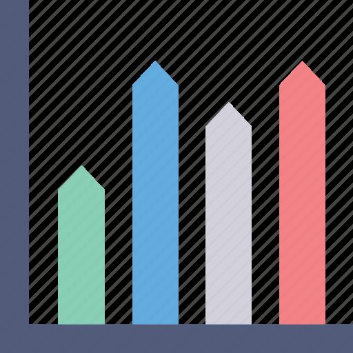 analytics, bar chart, bar graph, bars, statistics icon