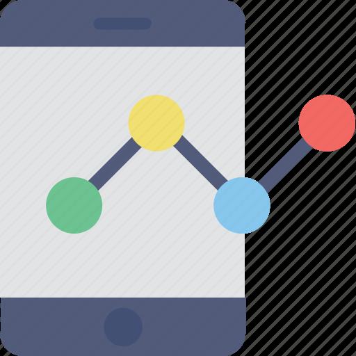 dashboard, graph, infographic, mobile graph, statistics icon