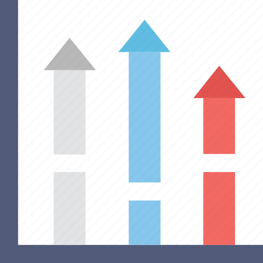 bar chart, forecasting, graph, growth, stats icon