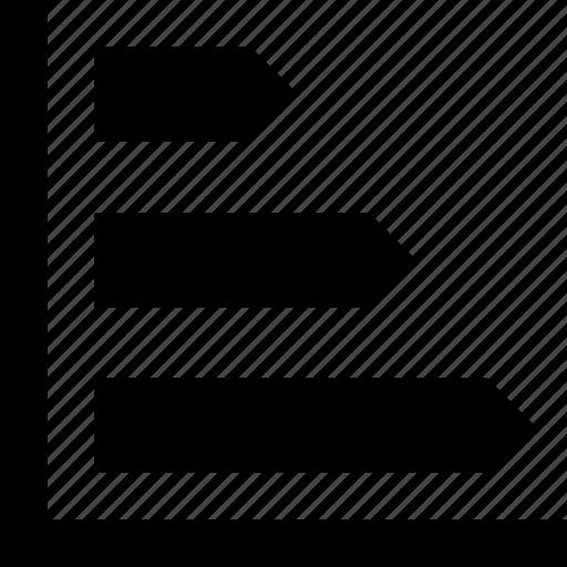 chart, data, graphic, horizontal graph, stats icon
