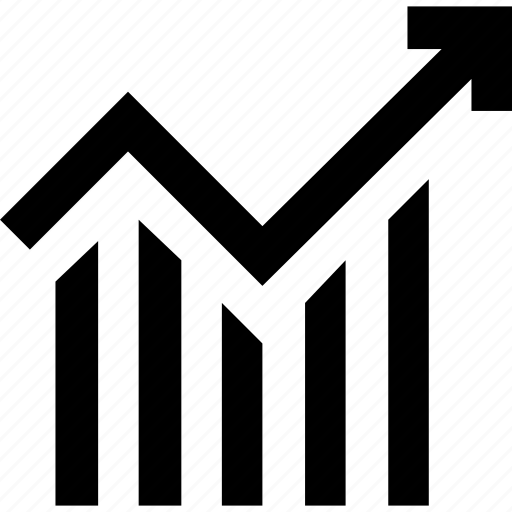 bar chart, diagram, graph, line chart icon