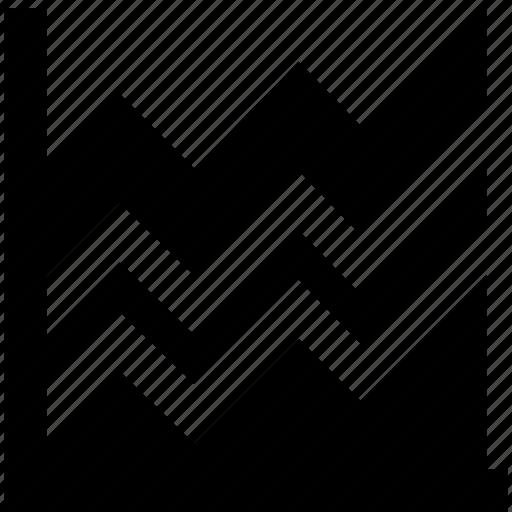 graphic, line chart, line graph, statistics, trending icon