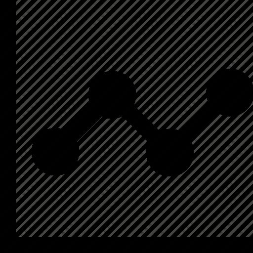 Line chart, graphic, stats, chart, analysis icon