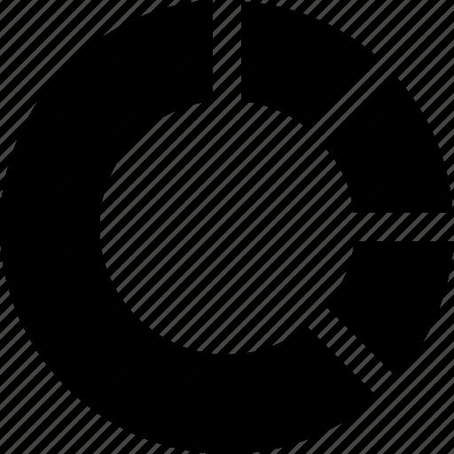 chart, circle chart, diagram, donut chart, graphic icon