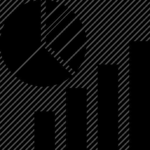 bar chart, diagram, graph, pie chart icon