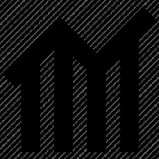 arrow, bar chart, forecasting, graph, growth icon