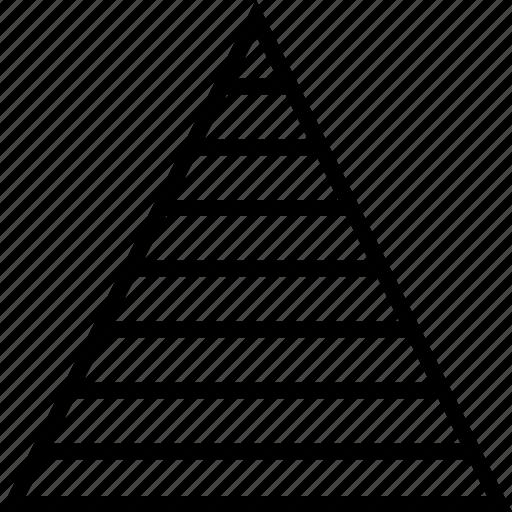 chart, graph, levels, pyramid, triangle icon