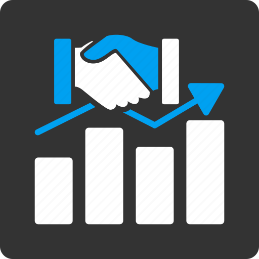 acquisition graph, business, chart, contract, data, handshake, report icon