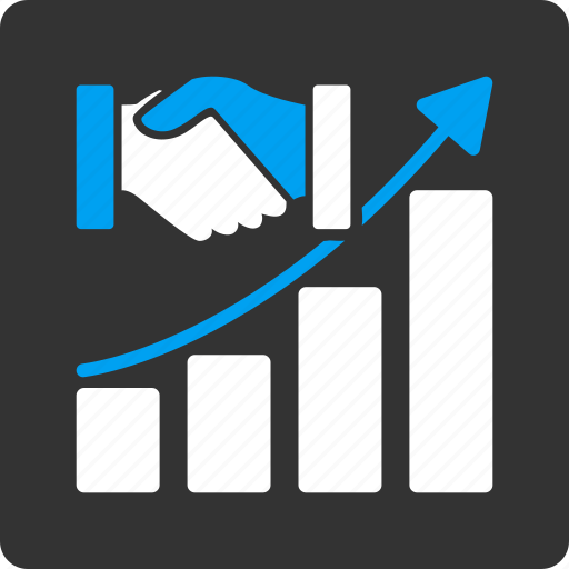 acquisition growth, chart, contract, data, graph, grow, report icon