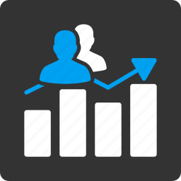 audience graph, business, chart, people, report, seo, social icon