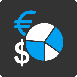 analytics, business, currency, finance, graph, money, pie chart icon
