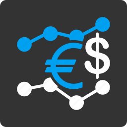 business, currency trends, euro, finance, financial, market, money icon