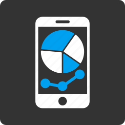 cellphone, charts, graph, mobile, phone, report, statistic icon
