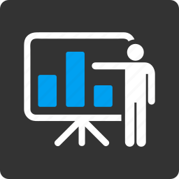 business plan, chart, lector, lecture, presentation, report, teacher icon