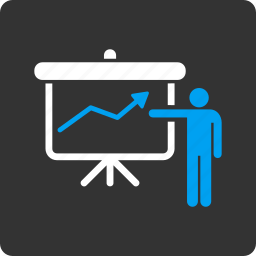 business, chart, education, graph, information, project presentation, report icon