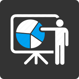 data, diagram, graph, lecture, pie chart, presentation, public report icon