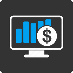 bar chart, business chart, finance, graph, money, report, sales monitor icon